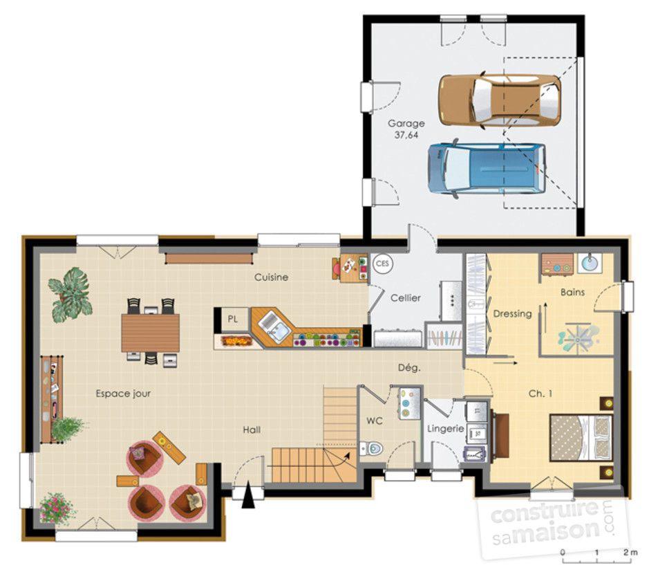 Célèbre Grande maison 4 chambres avec terrasse, garage et carport | Plans  IV07