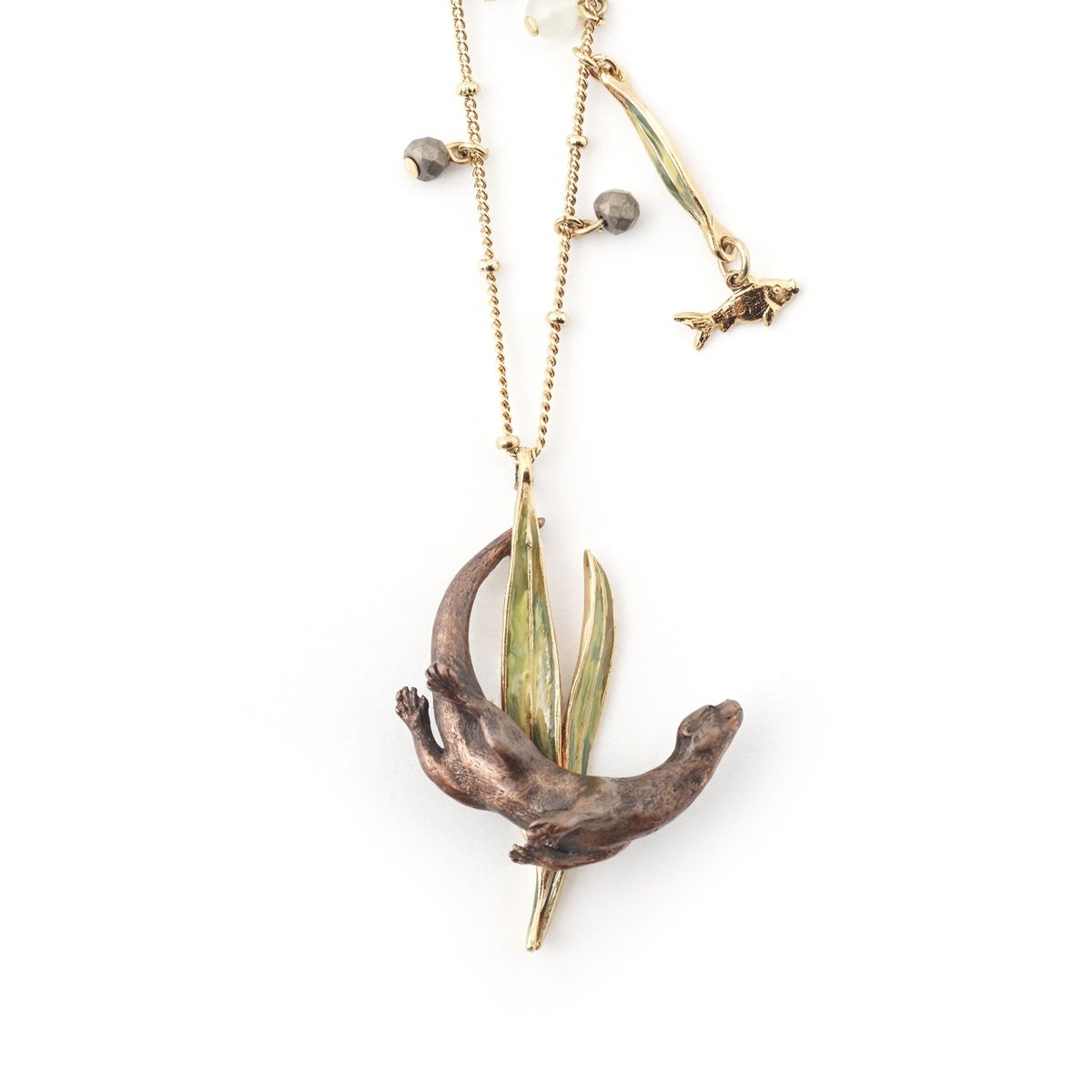 Diving otter pendant otters and pendants diving otter pendant aloadofball Image collections