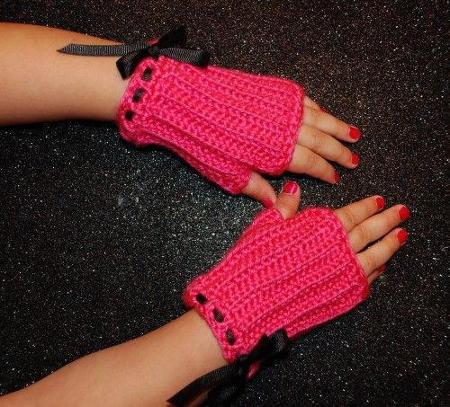 Crochet Fingerless Gloves-Toddler-Lolita