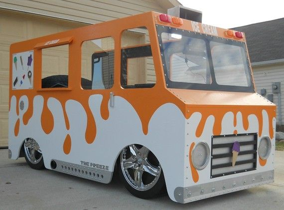 Ordinaire Twin Bed Ice Cream Truck Fantasy Bed By KidsCreationsBeds On Etsy