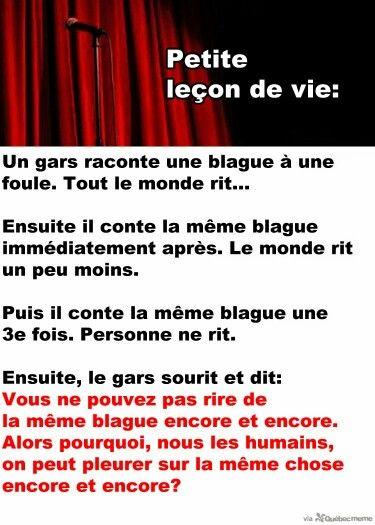 Lecon De Vie Lecons De Vie Humour En Tout Genre Message Drole