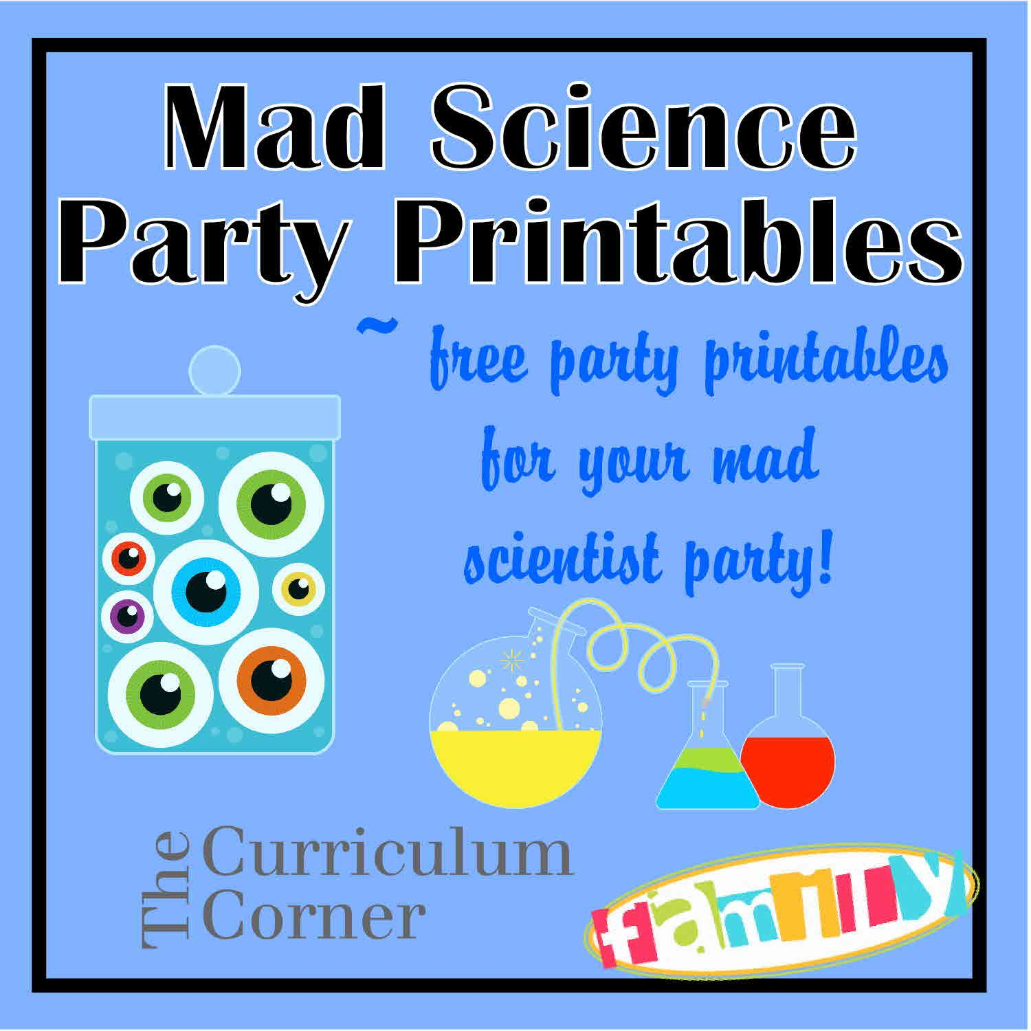 FREE mad scientist party printables from www ...