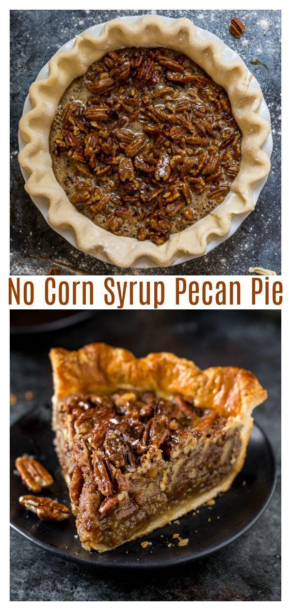 No Corn Syrup Pecan Pie made with real maple syrup!