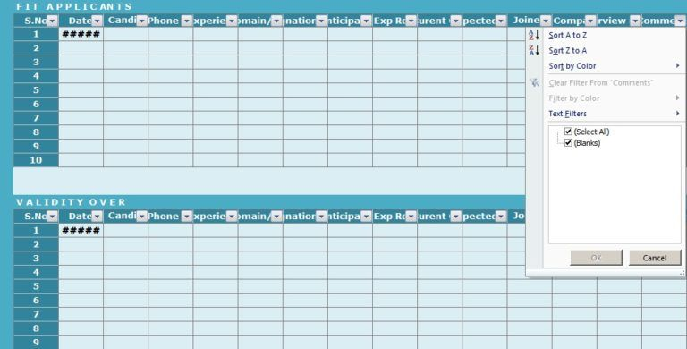 Recruitment Tracker Excel Template Excel Templates Templates Excel