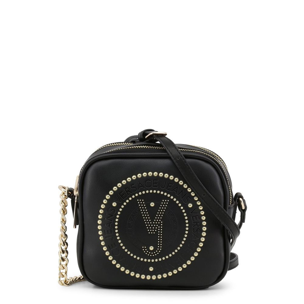 Versace Jeans Women s Black Crossbody Shoulder Bag Zip Closing Faux Leather   fashion  clothing  shoes  accessories  womensbagshandbags (ebay link) 747d23414e