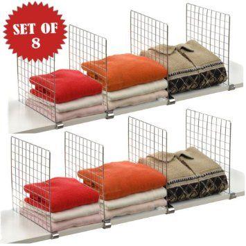 Shelf Dividers For Your Closet  For WOODEN Shelves: $15 For 16 Dividers    Make