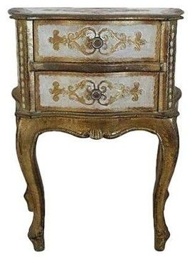 Used Italian Florentine Nightstand Mediterranean Nightstands And Bedside Tables Chairis Venetian Furniture Country House Decor Bedside Tables Nightstands