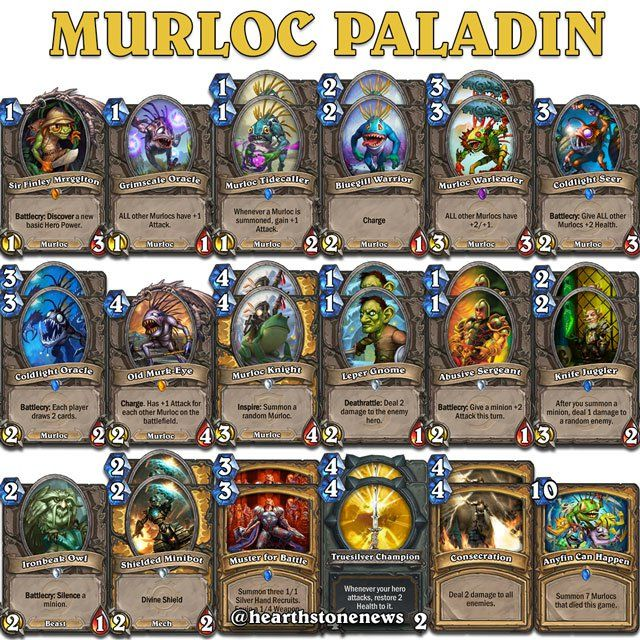 Hearthstone Deck Building Tips Paladin