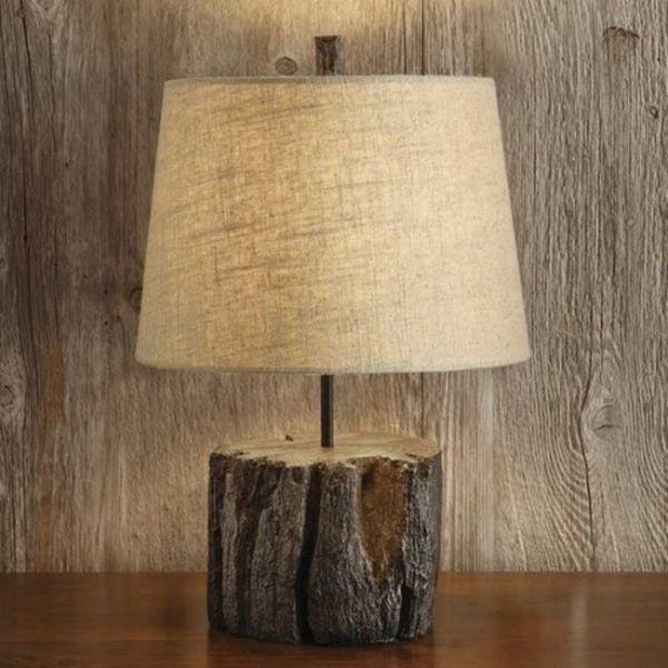 Nachttischlampe Kreative Deko Ideen Aus Baumstumpf Selber Machen