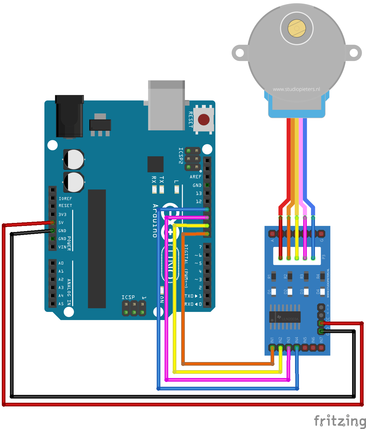 Arduino stepper motor control circuit diagram for Motor driver for arduino