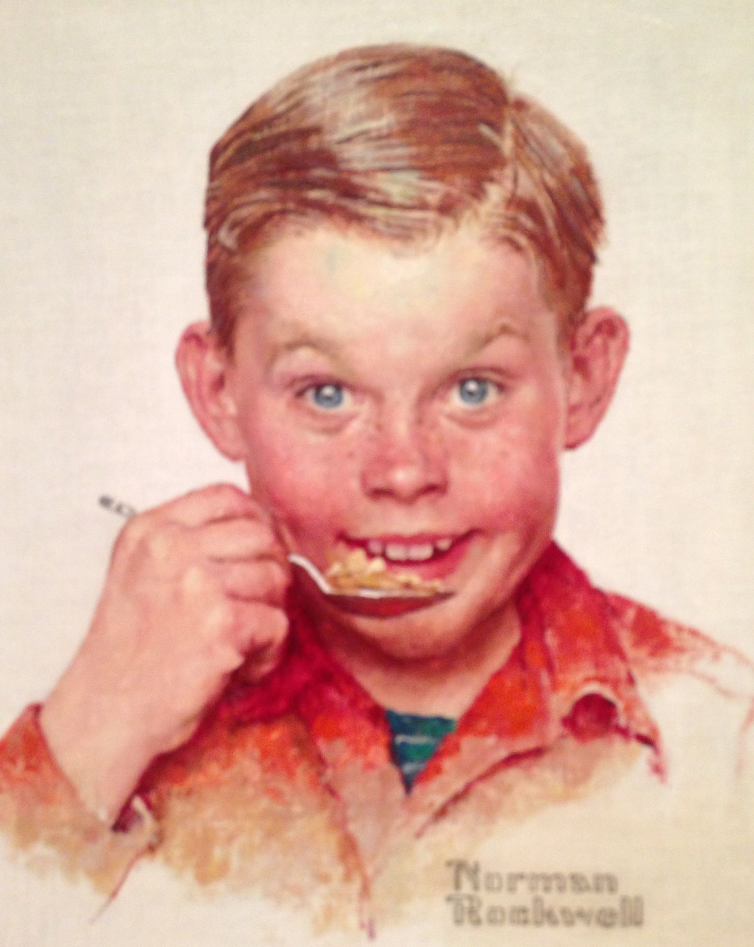 Norman Rockwell 1894 1978 Freckles Kellogg Company