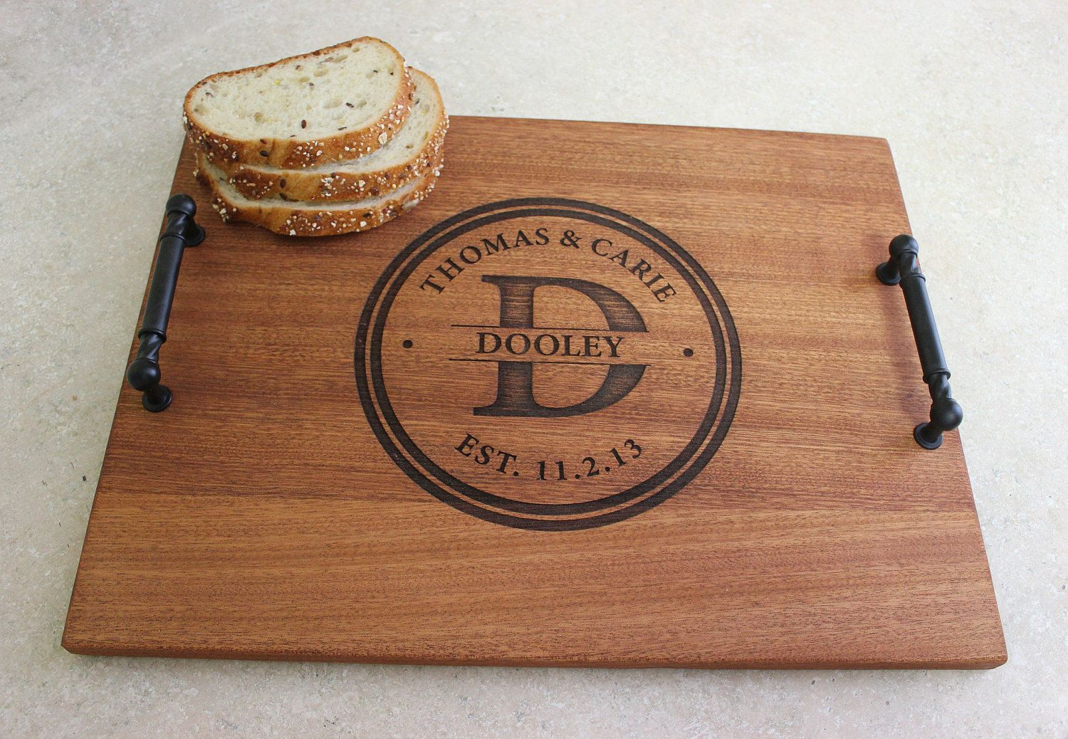 Personalized Engraved Wood serving tray / by DamiansWoodWorks, $59.00