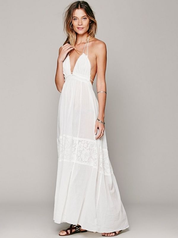 a8f551e939f Gorgeous beachy boho wedding dress for under  500! By Free People. Love it!