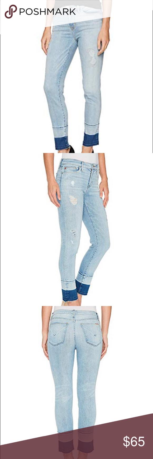 2227309becd NWT HUDSON Zooey Jeans Crop Straight Released Hem Classic HUDSON Zooey  Mid-Rise Crop Straight