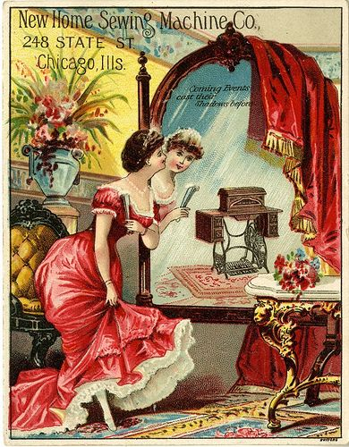 New Home Sewing Machine Co., 248 State Street, Chicago, Ills., via Flickr.