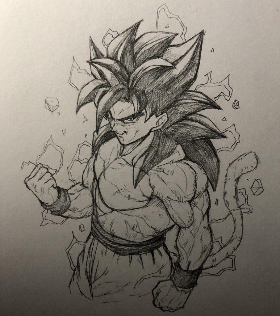 Dessin Son Goku Super Saiyajin 4 Ȉžé›¶ Á¶ã'Œ Fantastickyouth Twitter Art Anime Anime