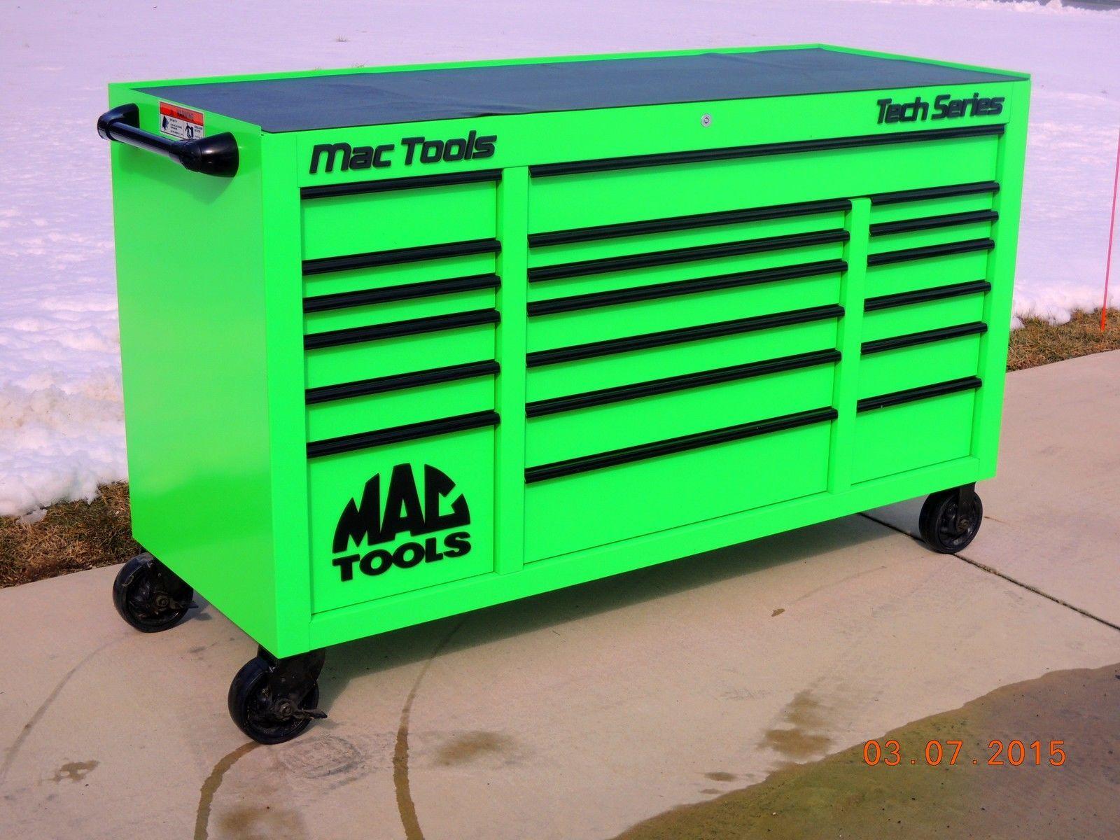 Mac Tools Extreme Green Mechanic tool box, Tool box