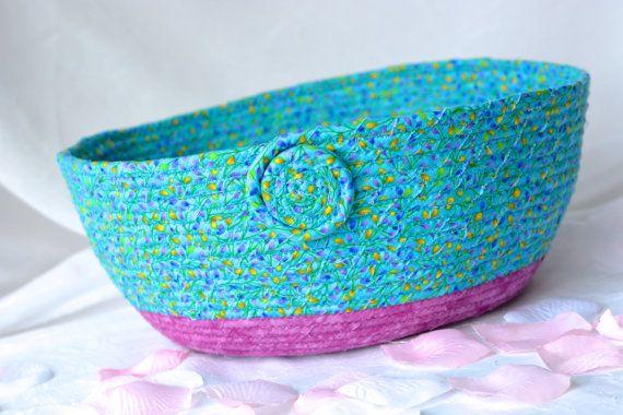 Wexford Treasures: Lovely Blue Gift Basket .....I Handmade this pretty Flower Bud Basket... Napkin Holder, Mail Bin....  by WexfordTreasures