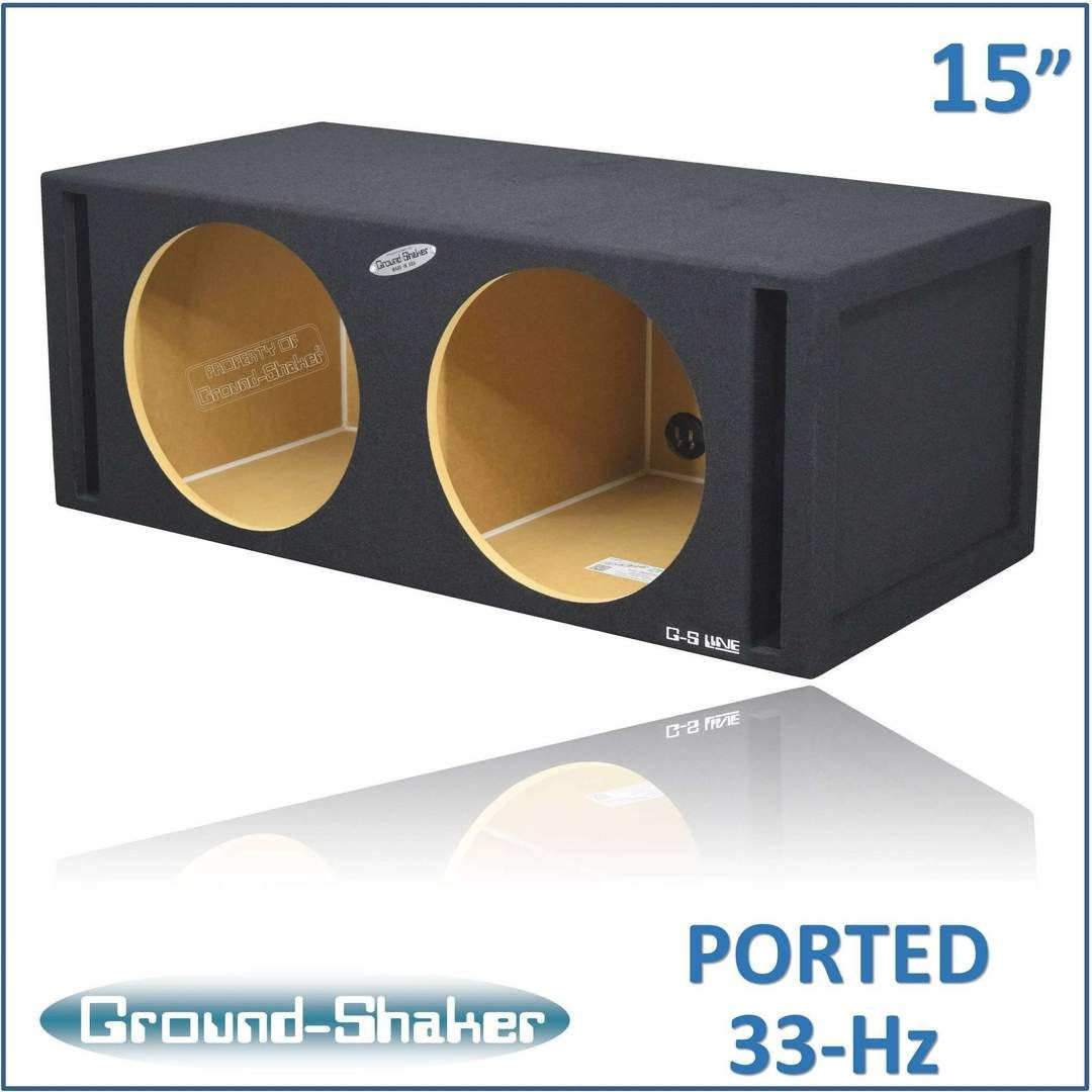 Dual 15 Inch Dual Side Slot Vented Subwoofer Enclosure In 2020 Subwoofer Box Subwoofer Box Design Speaker Box Design