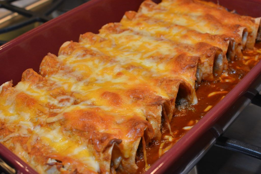Easy Beef Enchiladas The Cookin Chicks Recipe Easy Beef Enchiladas Beef Enchiladas Ground Beef Enchiladas