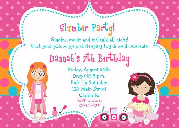 Slumber Party Birthday Party