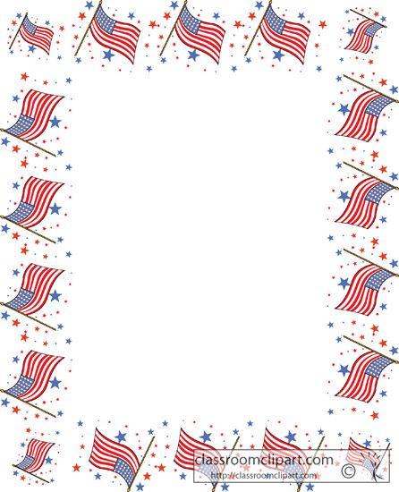 Flag Border Clipart Clipart Kid Clip Art Borders Framed Flag Paper Decorations