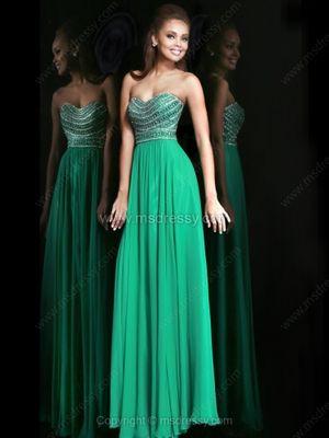 Sheath/Column Sweetheart Chiffon Floor-length Rhinestone Evening Dresses -$163.99