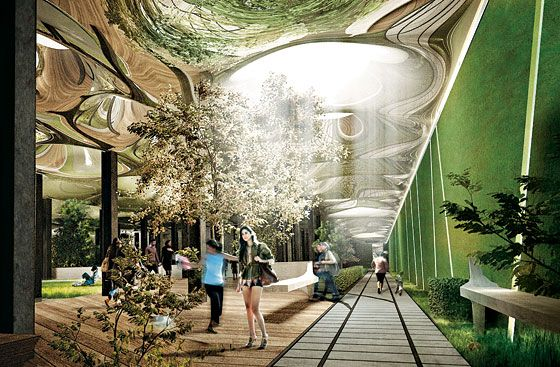 """""""Low"""" Line Proposes an Underground Park for the Lower East Side"""