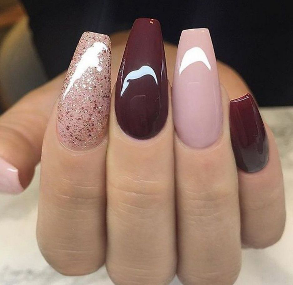 32 Fall Nails Colors Acrylic Coffin That Will Motivate You Mauve Nails Coffin Nails Long Gel Nails