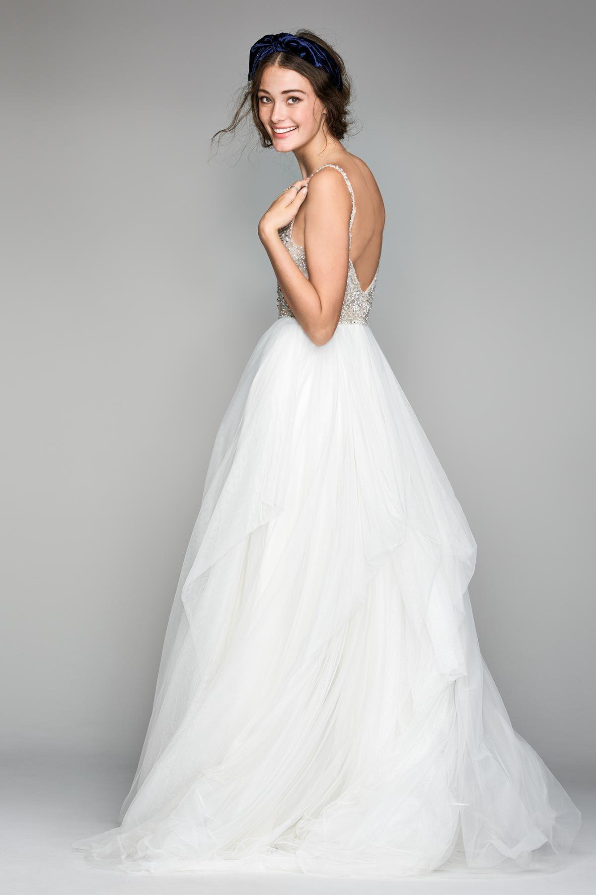Nova Willowby Watters Available At Lulu's Bridal Boutique Dallas Texas Bohemian Boho Bride A Line V Neck Beaded Straps: Lulus Beaded Bodice Wedding Dress At Websimilar.org