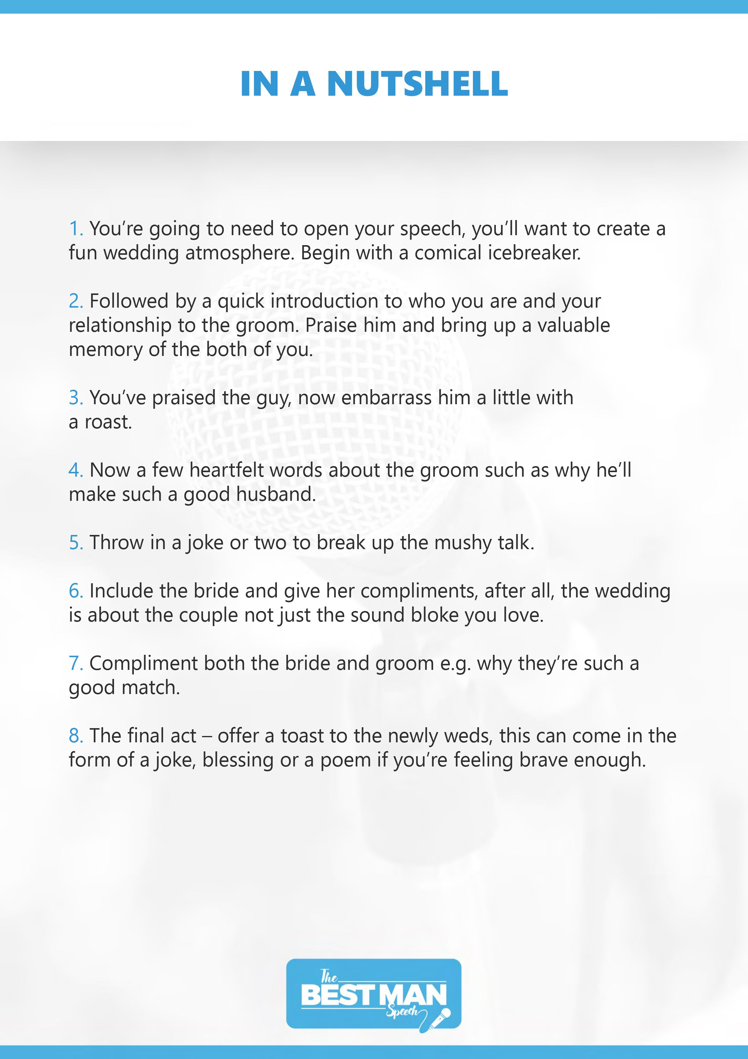 The Best Man Speech Guide Free Best Man Speech Template