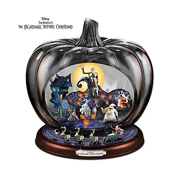 Disney The Nightmare Before Christmas Pumpkin Sculpture Christmas