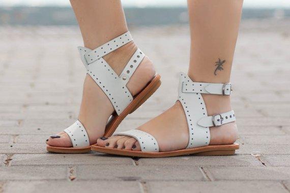 Leather Women Leather SandalsFlat Greek Greek Summer SandalsFlat mPyv80wnON