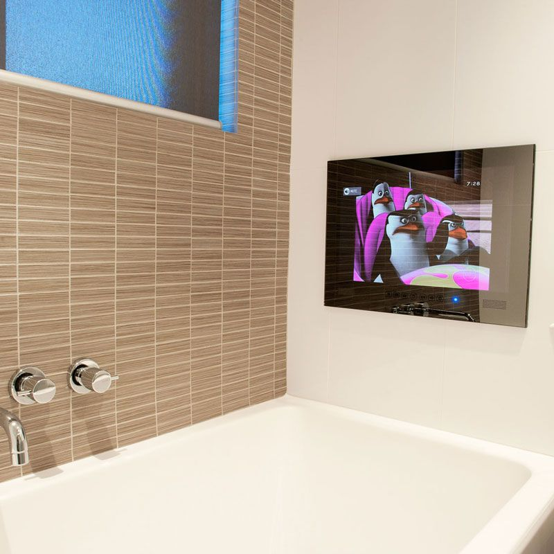 Residential Gallery Tv In Bathroom Bathtub Shower Combo Master Bath