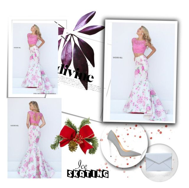"""""""Two Piece Sherri Hill 50435 Pink Lace Mermaid Prom Dress"""" by carolyncolwell ❤ liked on Polyvore featuring moda, Jimmy Choo e Rebecca Minkoff"""