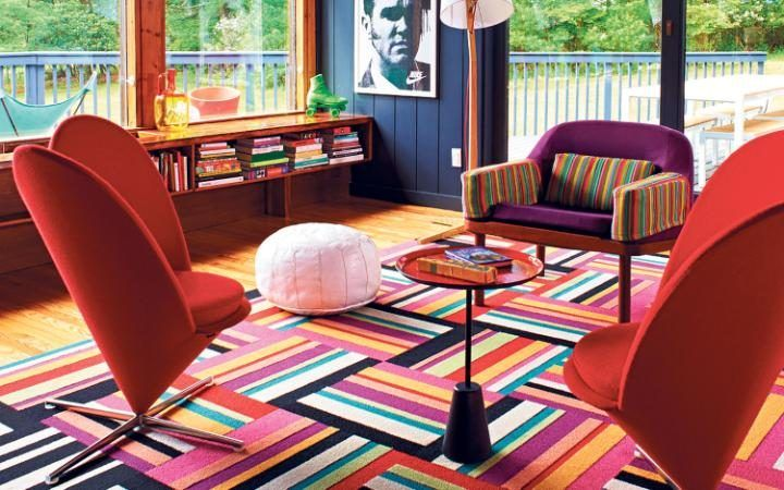 If your home is a symphony of 17 different shades of white paint, avert your eyes now. If, however, cornea-sparingly bright sofas, bent plywood chairs, or tables crafted from nothing but wire intri...