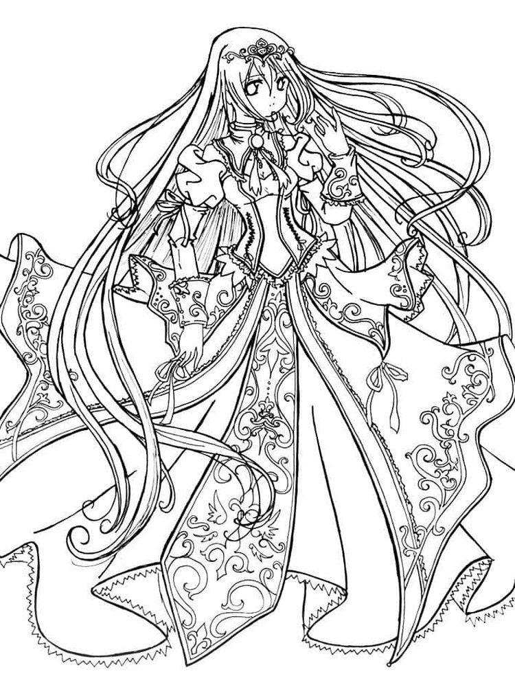 Anime Coloring Pages Pdf Princess Coloring Pages, Chibi Coloring Pages,  Dog Coloring Page