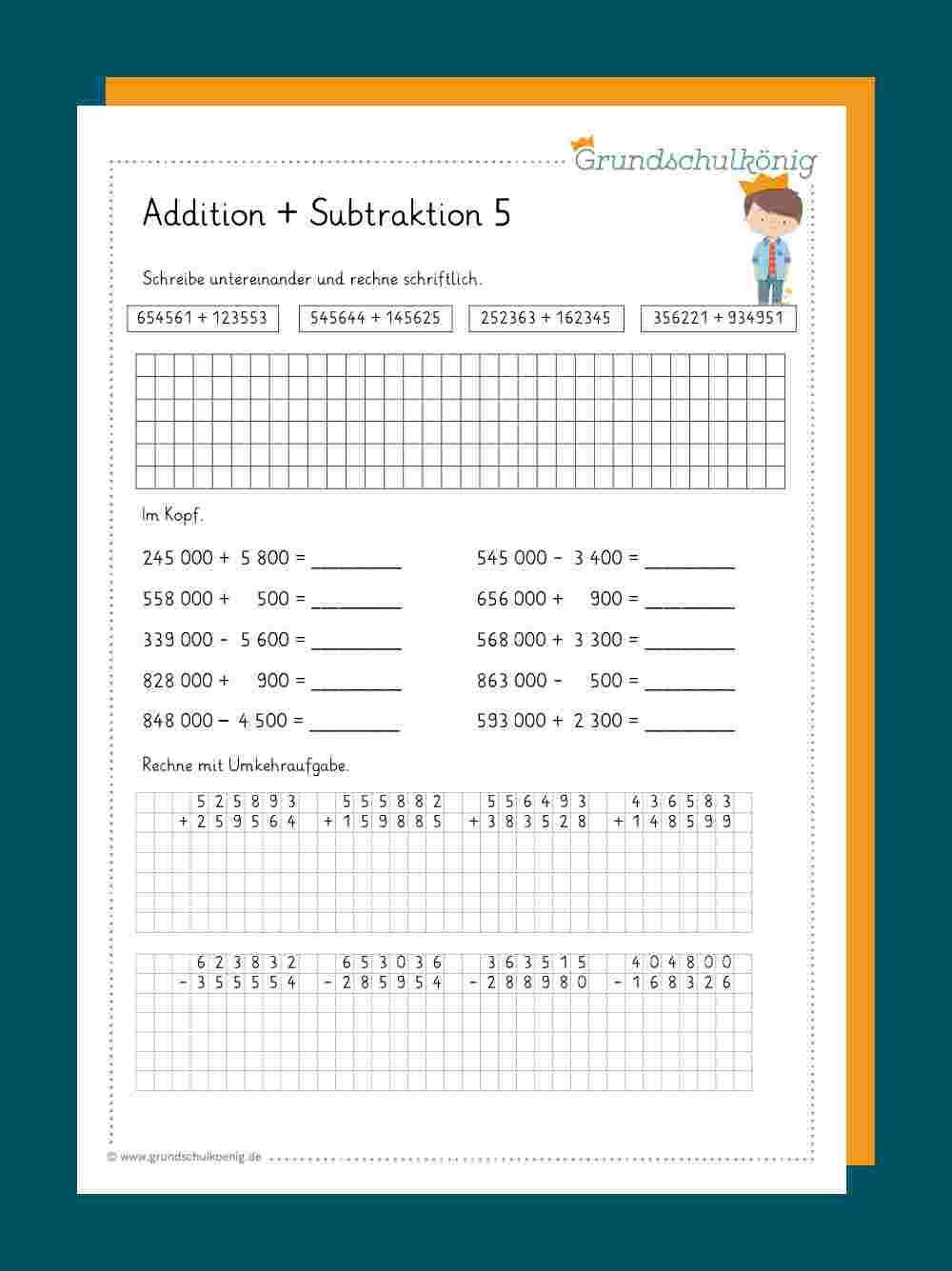 Addition und Subtraktion im Zahlenraum 20 20 20   Addition und ...