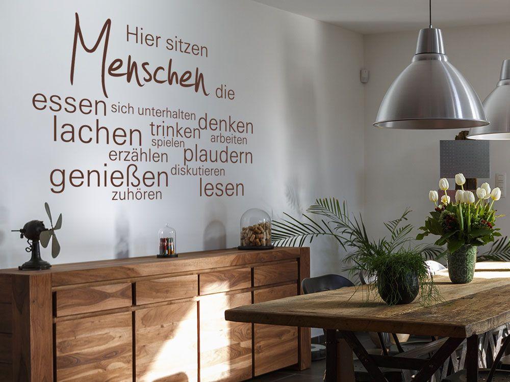 Wandtattoo Hier sitzen menschen für Wand in der Küche