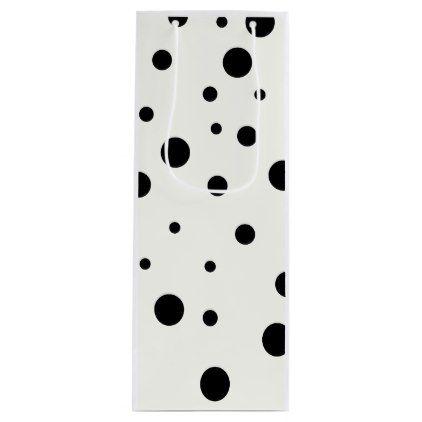 Elegant Black Polka Dots Pattern Gift Bag |