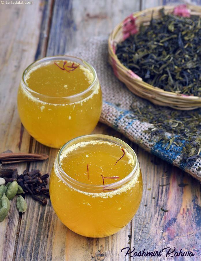 Kashmiri Kahwa, Kashmiri Tea | Receta | Indian Drinks ...