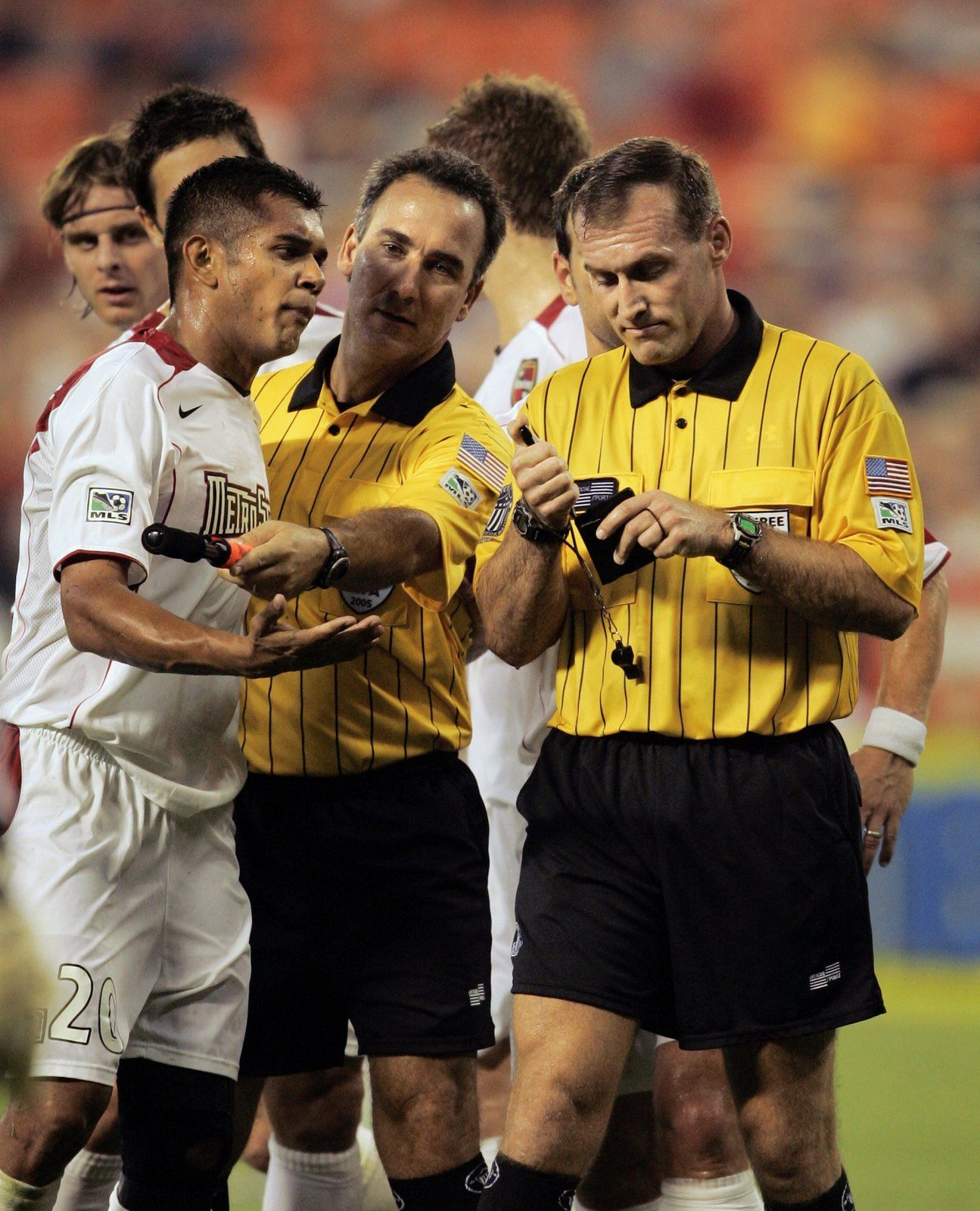 My first job was as a soccer referee and it was really