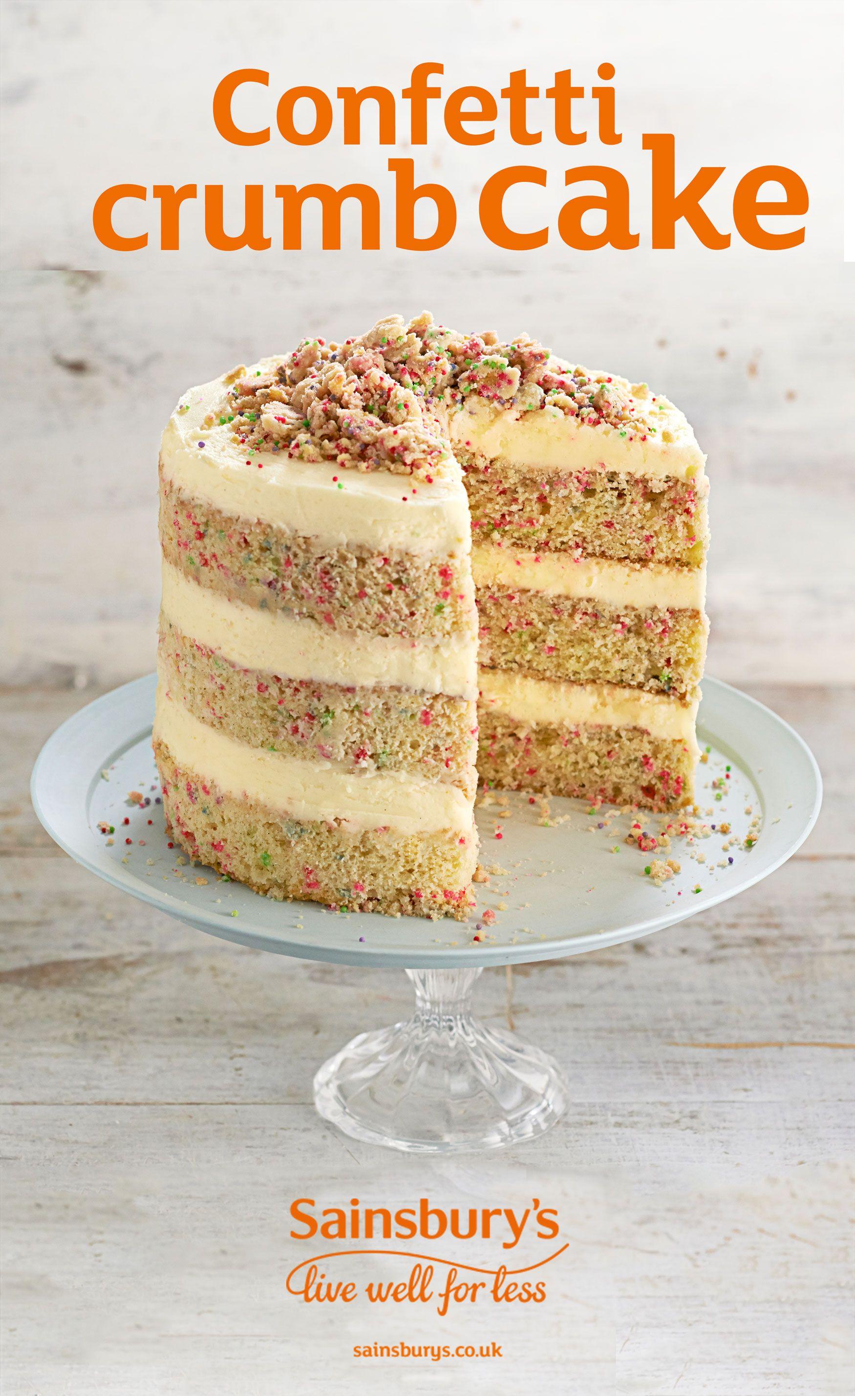Confetti Crumb Cake Recipe Cake Baking Desserts