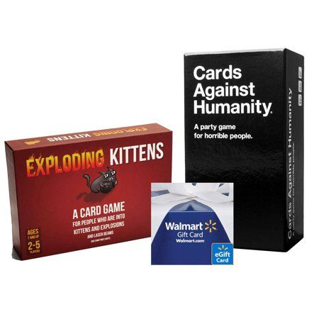 Cards Against Humanity Game Exploding Kittens Game With Free 10 Egift Card Cards Against Humanity Game Exploding Kittens Cards Against Humanity