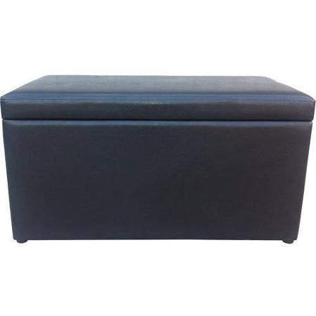 Wondrous Faux Leather Storage Ottoman Brown Walmart Com Home Caraccident5 Cool Chair Designs And Ideas Caraccident5Info