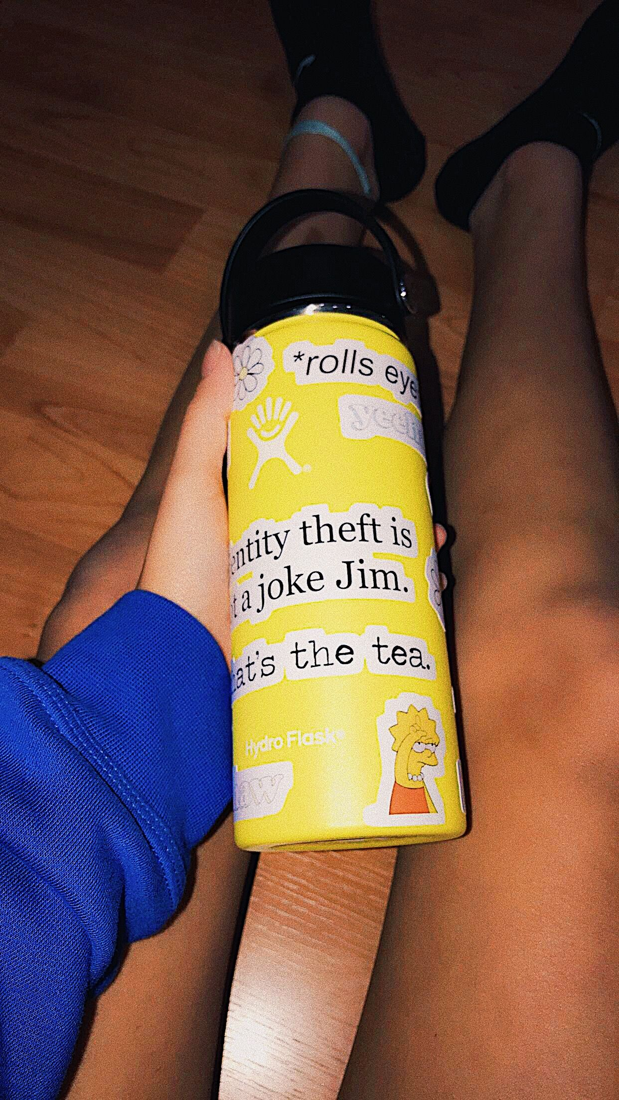 Aesthetic Yellow Hydro Flask Stickers