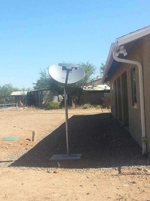 Our Directv Tv Satellite Dish Mounted To A Concrete Pole Satellite Dish Tv Providers Directv