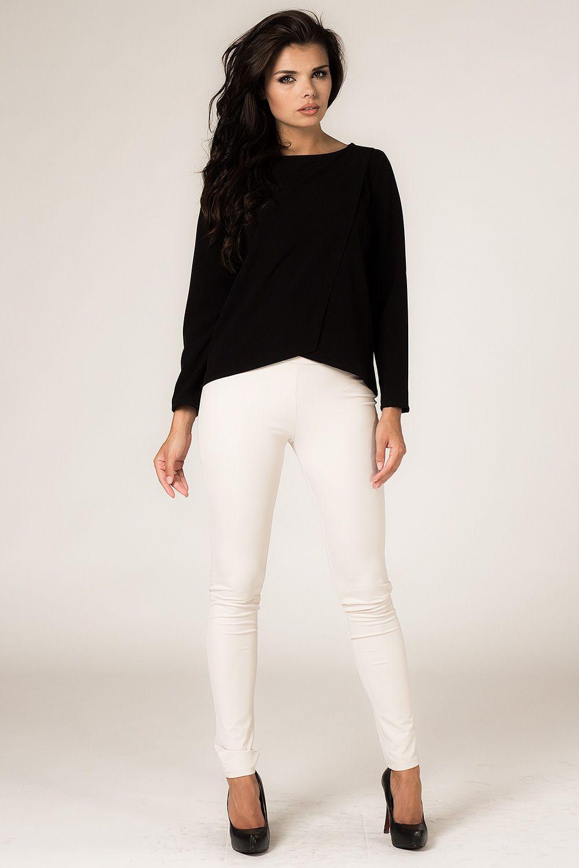 220420c92724c0 Elegancka czarna bluzka damska | Bluzki długi rękaw | Czarny