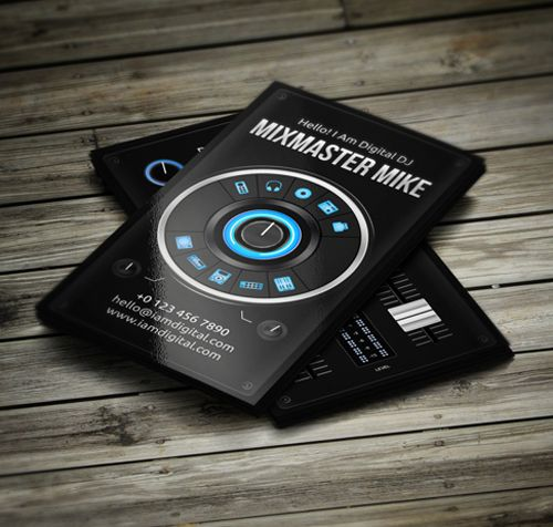 Inspire Amazing DJ Business Cards PSD Templates Web Design - Business cards psd template