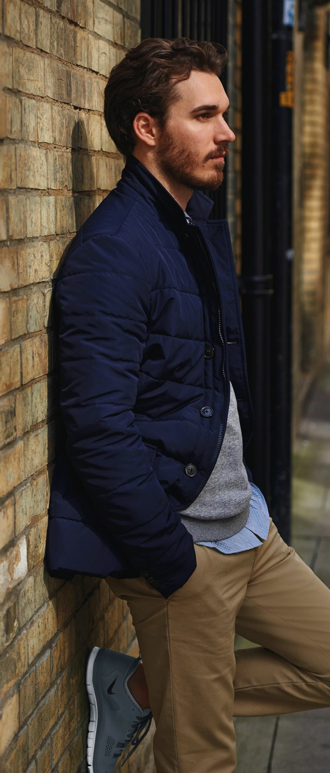 5efc1411bfbb Tommy Hilfiger Navy Quilted Jacket